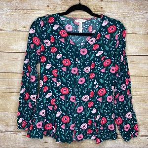 Matilda Jane Floral Button Top Size Small